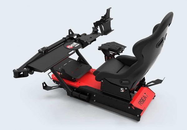 rseat s1 black red upgrades shifter handbrake 03